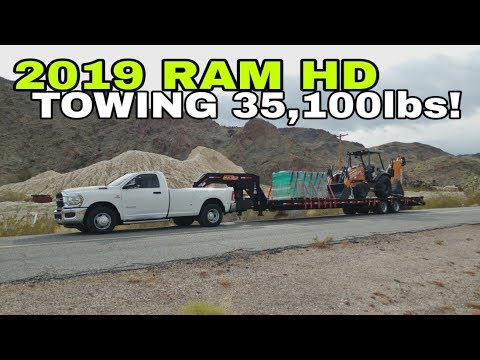 Towing 35,100lbs in the 2019 RAM 3500 Pickup! Crazy!