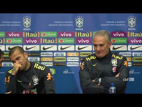 Seleção Brasileira: coletiva com Daniel Alves e Tite - 13/11/2017
