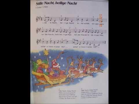 stille Nacht, heillige Nacht Weihnachtslied mit Noten