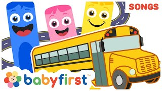Gambar cover Wheels on The Bus | The Color Crew Musical | Compilation of Nursery Rhymes for Babies | Baby First