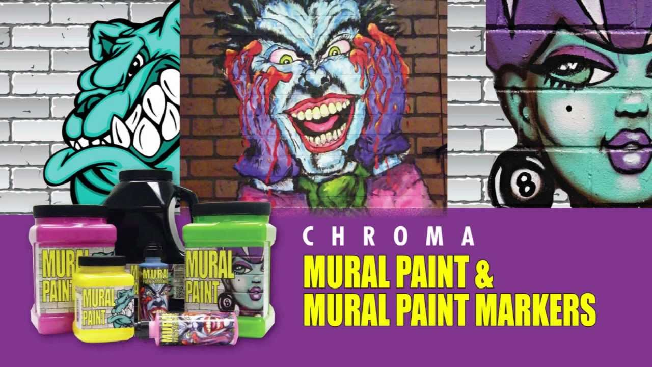 Chroma mural paint mural paint markers youtube for Chroma mural paint