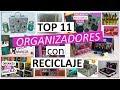 11 Manualidades Para ORGANIZAR SIN GASTAR MUCHO (Con reciclaje)