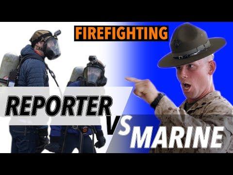 Reporter VS Marine: Firefighter Challenge