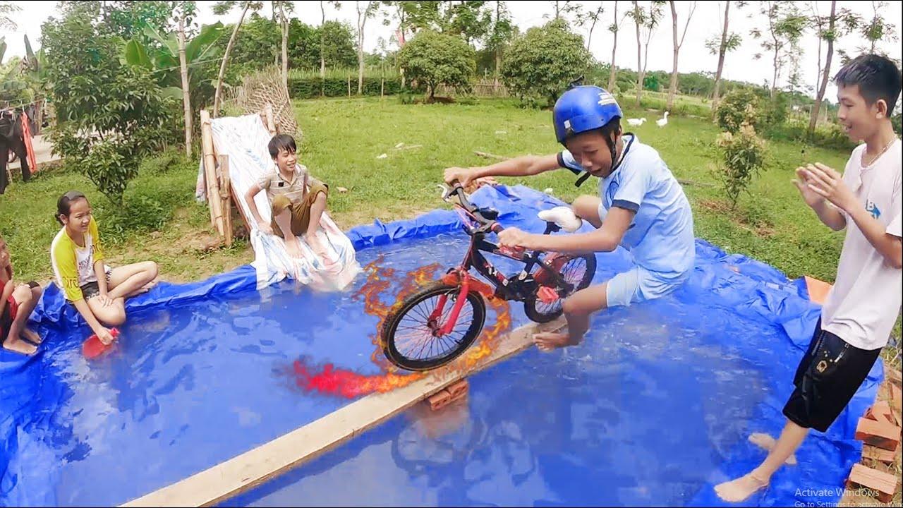 Thái Chuối | Thử Thách Chạy Xe Qua Cầu Khỉ Nhận Thưởng – Qúa Đẳng Cấp