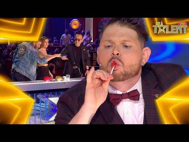 Este MAGO gana el PASE DE ORO gracias a BATMAN   Audiciones 3   Got Talent España 7 (2021)