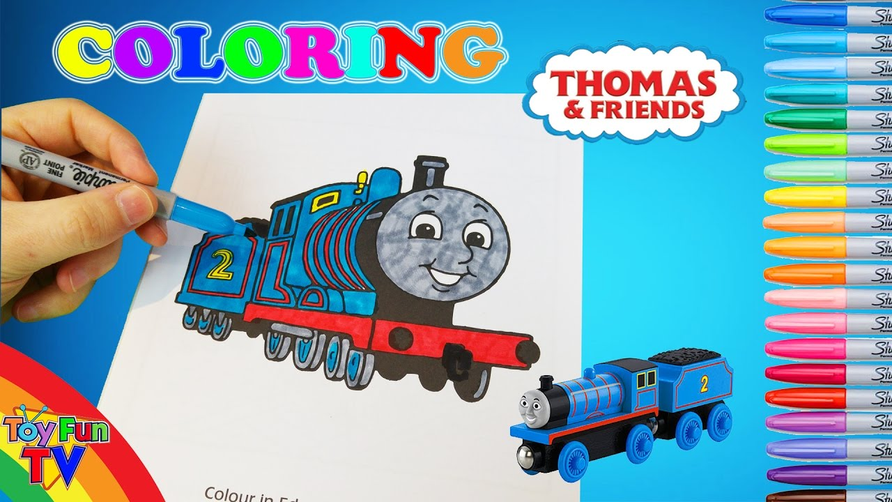 Thomas and Friends Coloring Book Baby Edward The Tank Engine Colour ...