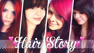 Meine HAIR STORY + BILDER! • 2004 bis heute! ❤ | Blond, Pink, Pony, Rot, Lila, ...