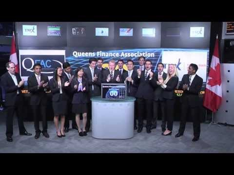 Queens Finance Association Conference 2013 (QFAC) opens Toronto Stock Exchange, October 18, 2013.
