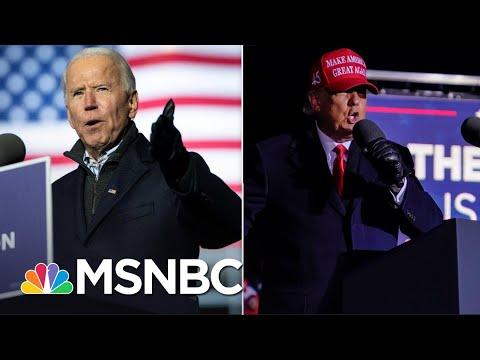 Biden Puts Combative Trump On Defense In Campaign's Last Day | The 11th Hour | MSNBC