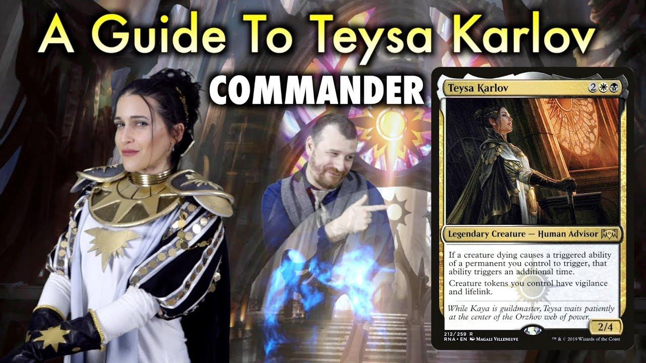 A Guide To Teysa Karlov Edh Commander For Magic The Gathering Youtube Orzhov enchantment edh deck list with prices for magic: a guide to teysa karlov edh commander for magic the gathering