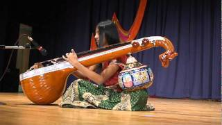 Moukthika Obulareddy playing Indian and American National Anthems on Indian Musical Instrument Veena