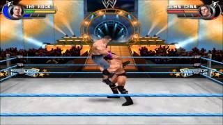 The Rock VS John Cena: WWE all stars PC gameplay (pcsx2)