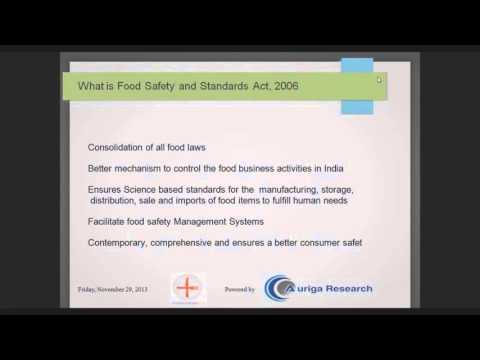 What is Food Safety and Standard Act?