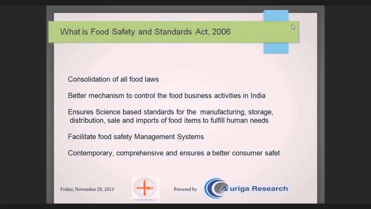 what is food safety and standard act what is food safety and standard act