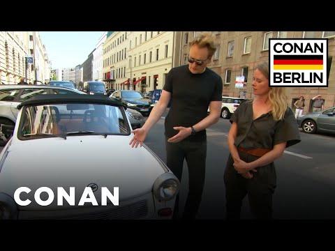 Conan Drives A Rickety East German Trabant  - CONAN on TBS