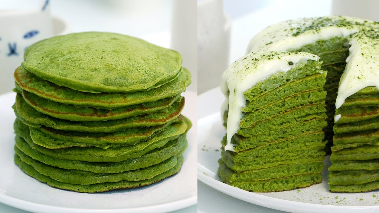 Easy matcha green tea pancakes recipe youtube easy matcha green tea pancakes recipe ccuart Image collections