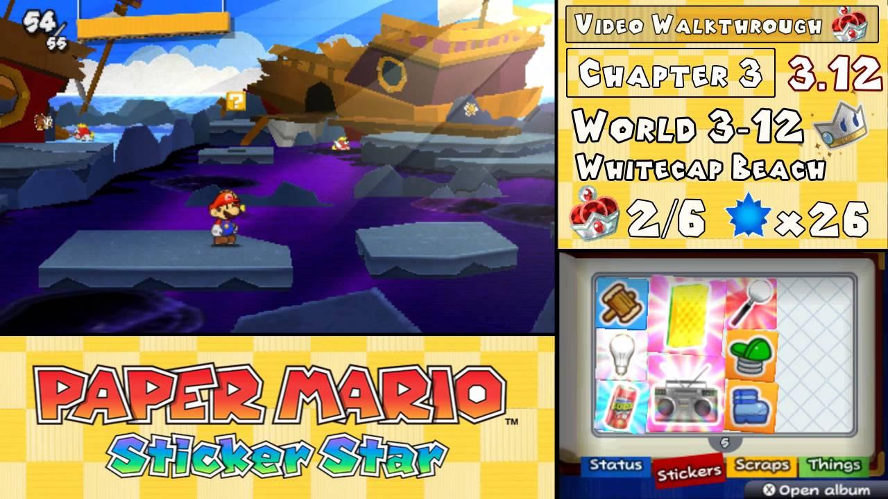 paper mario sticker star 3-12 help