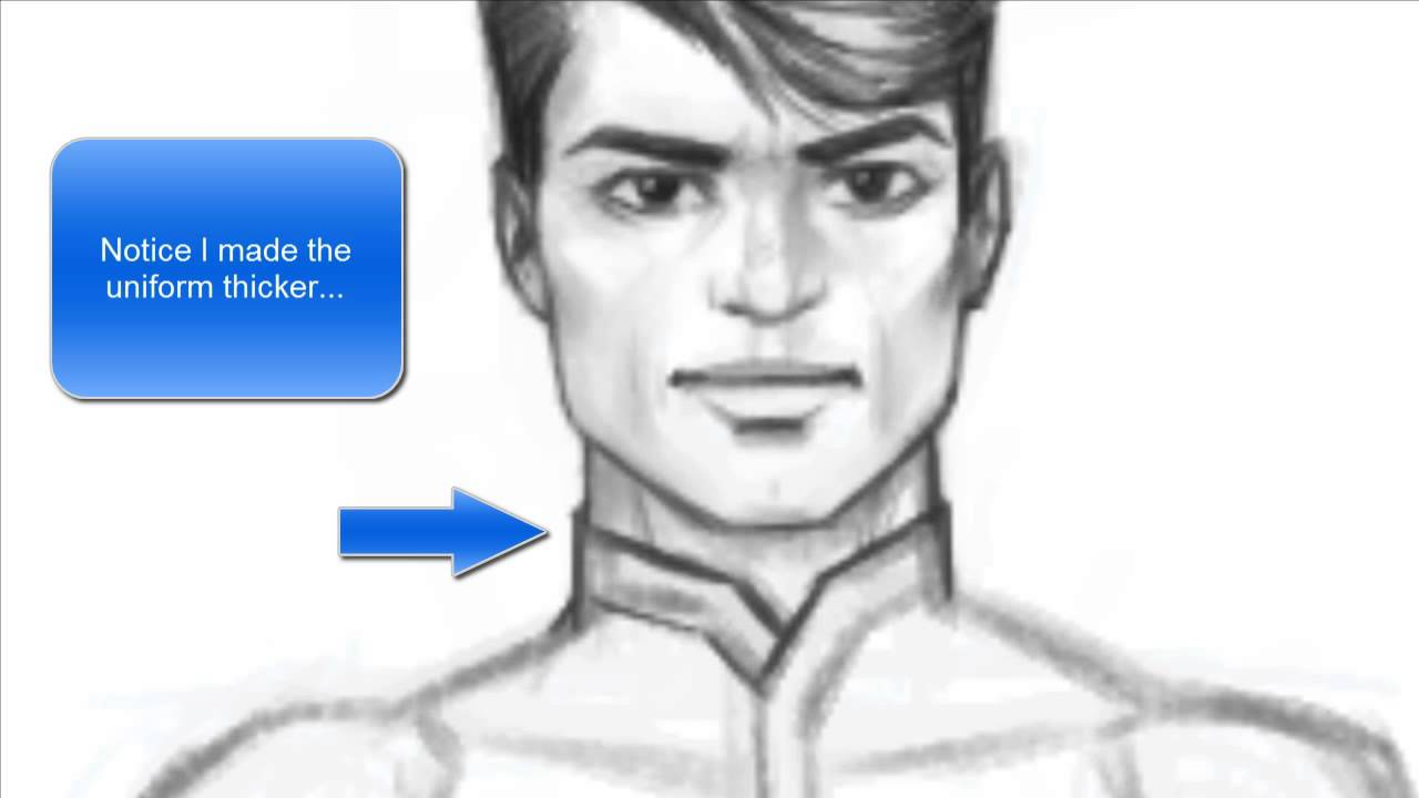 How to Draw a Male Character (3/4 pose length)