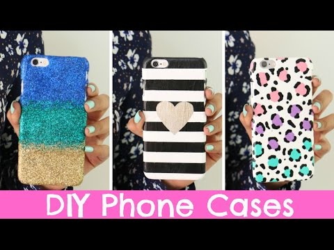 Diy phone cases three designs cute easy youtube for Design a case