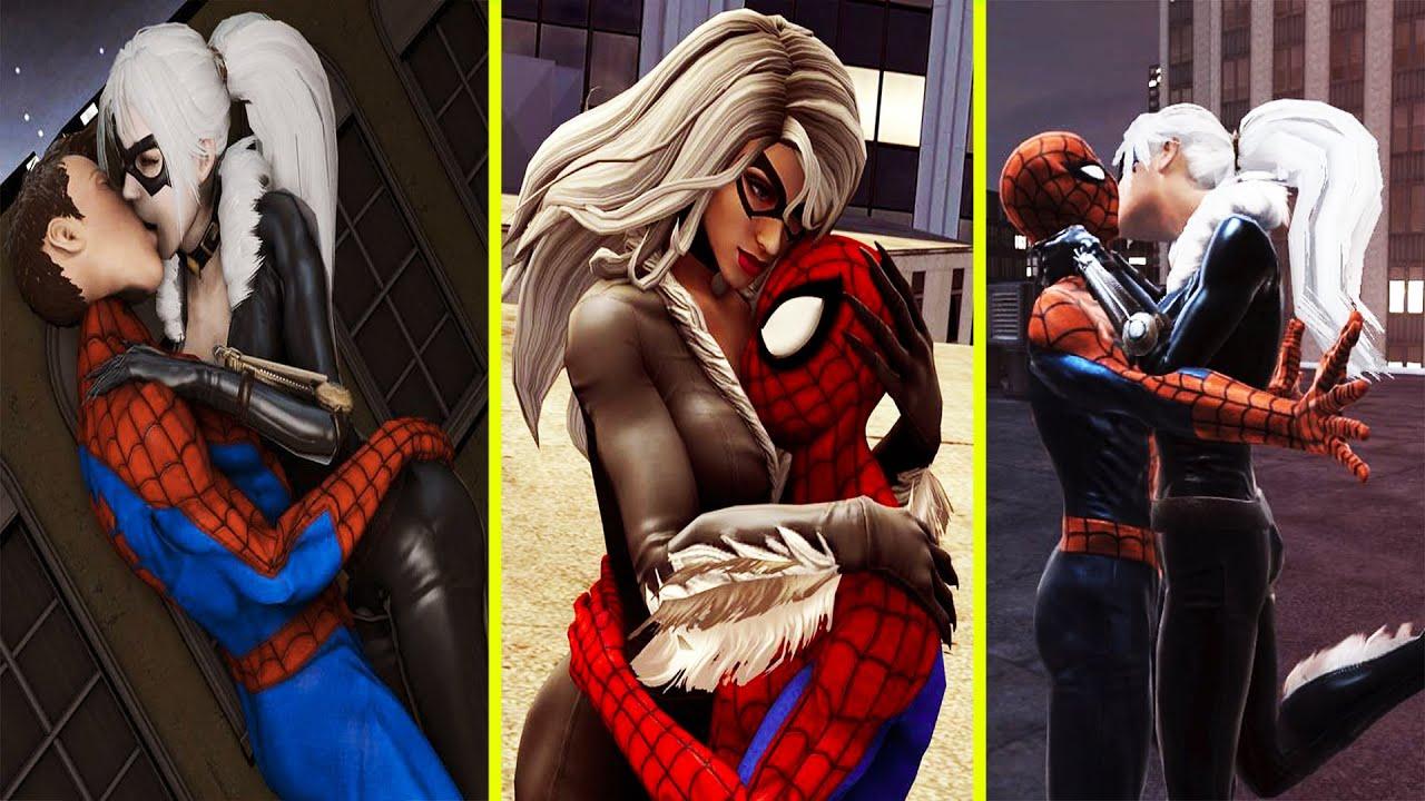 Download Spider Man & Black Cat's All Kiss, Hug, Proposed, Sleep Together & Romance Scenes Marvel's Avengers