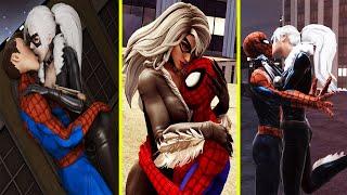 Spider Man & Black Cat's All Kiss, Hug, Proposed, Sleep Together & Romance Scenes Marvel's Avengers