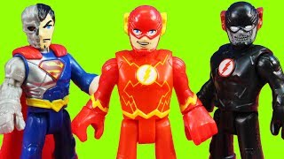 Imaginext DC Super Friends Super Heroes Vs. Villains Set With Black Flash Speedster Race & Robo Dog