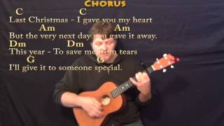 Last Christmas (WHAM) Bariuke Cover Lesson with Chords/Lyrics - Capo 2nd