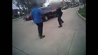 Police bodycam video, witness video show takedown of suspect