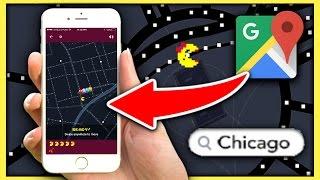 MS. PAC-MAN ON GOOGLE MAPS?! (GOOGLE MAPS APRIL FOOLS' PRANK 2017!) Free HD Video