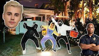 WE WENT TRICK OR TREATING AT JUSTIN BIEBERS HOUSE! (HE ANSWERED)