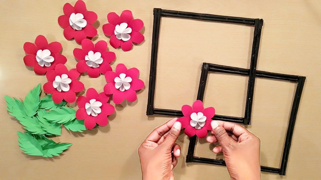Beautiful Home Decoration Ideas - Paper Flowers Crafts - Wall Decoration Ideas - Hanging Crafts Idea