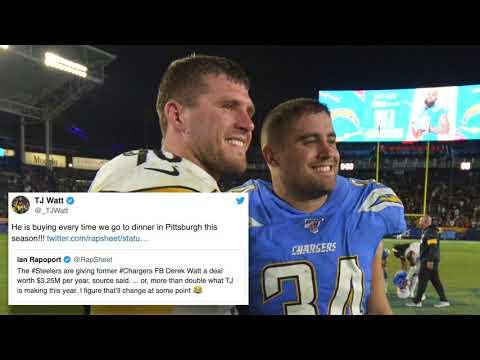 Derek Watt Joins Brother T.J. With Steelers, J.J. Jealous