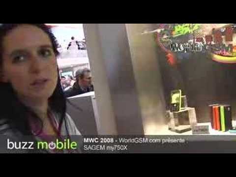 MWC 2008 : SAGEM my750X