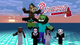 Monster School: BRAVE CHALLENGE [ MOBS VS HORROR ] - Minecraft Animations