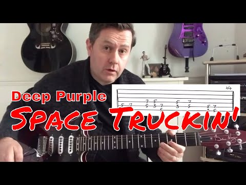 Deep Purple - Space Truckin' - Easy Guitar Lesson (Guitar Tab)