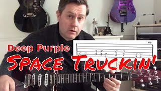 Download Deep Purple - Space Truckin' - Easy Guitar Lesson (Guitar Tab) MP3 song and Music Video