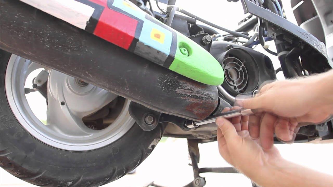 Yamaha Vino Exhaust Mod