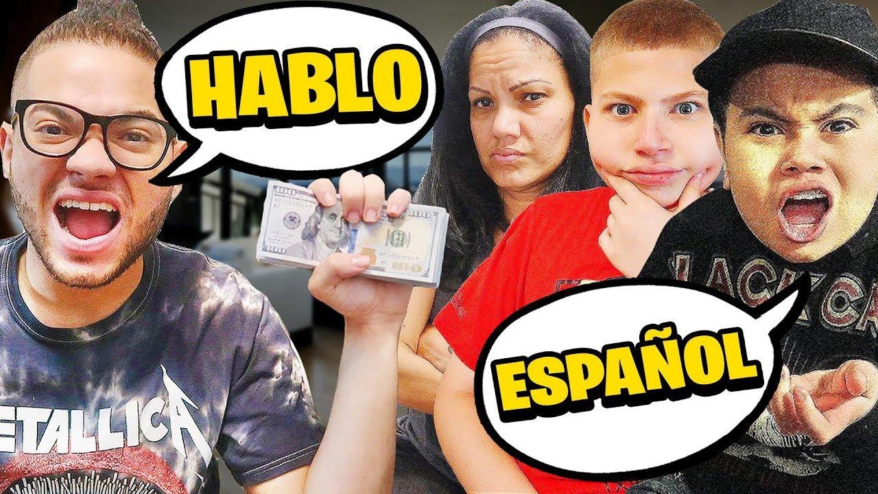 SPANISCH GEWINNT 10.000 USD - Herausforderung + video