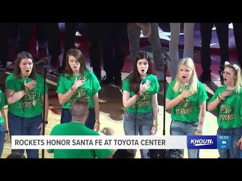 Rockets honor Santa Fe at Toyota Center