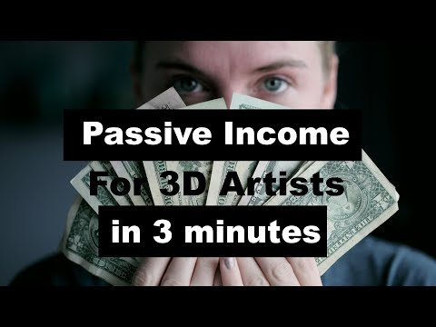 Passive income: Should 3D artists only sell 3D models in under 3 minutes