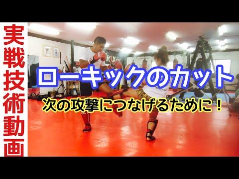 【実No.7】ローキックのカット(防御)の方法【キックボクシング実戦テクニック】