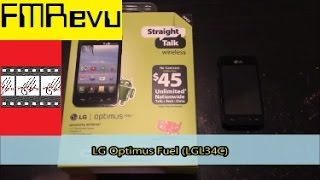 LG Optimus Fuel (L34C) Straight Talk Cell Phone