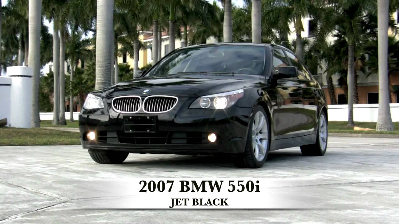 2007 BMW 550i Jet Black Sport Sedan T2563C   YouTube