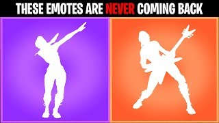 10 Fortnite Emotes that are NEVER returning  to the item shop....