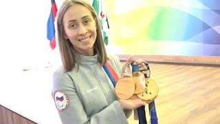 Параолимпийская чемпионка в 34 школе.