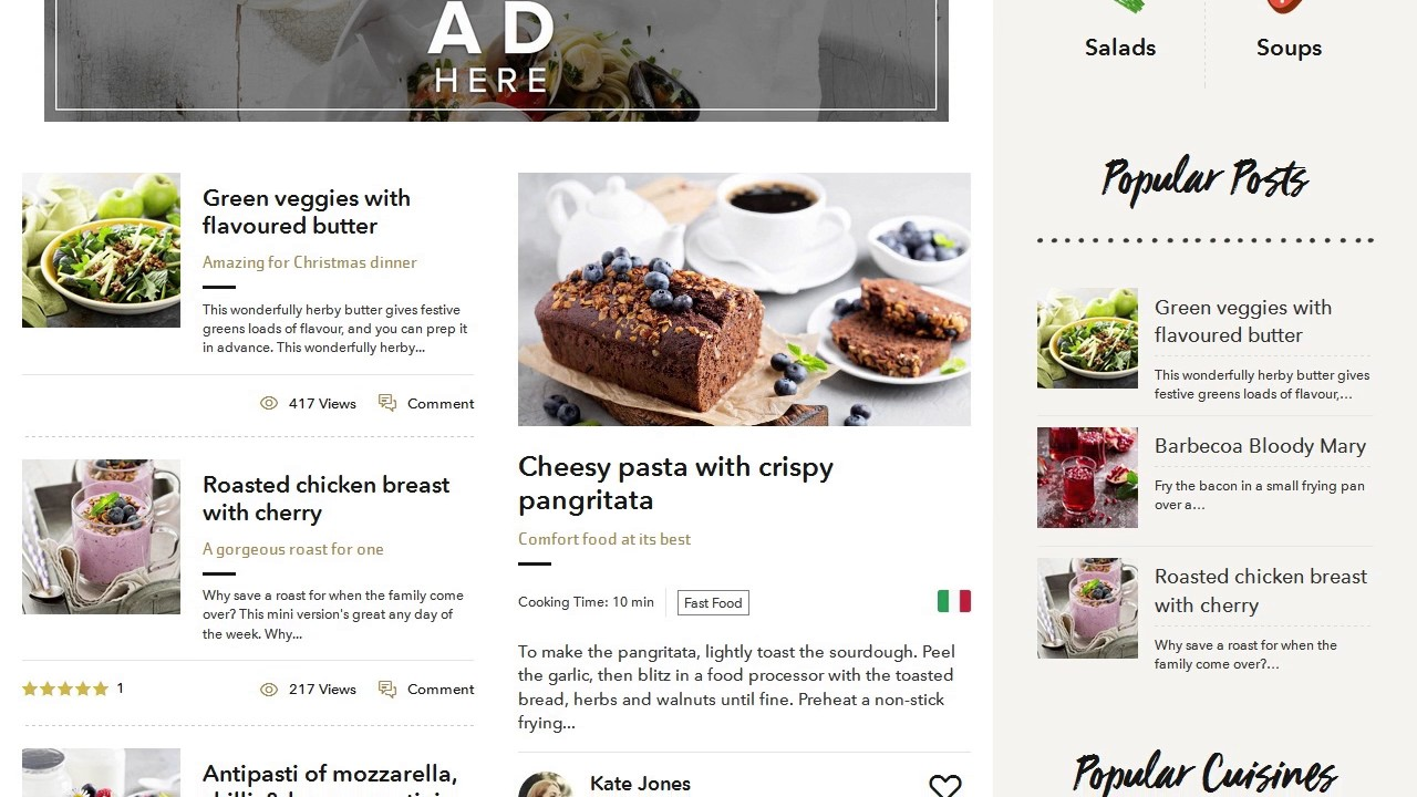 Food blog wordpress theme for personal food recipe blog youtube food blog wordpress theme for personal food recipe blog forumfinder