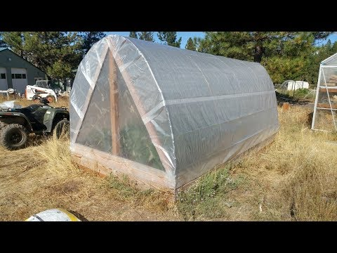 Finishing the Cattle Panel Hoop Greenhouse (Part 2)