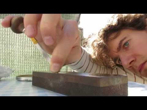 Hand sharpening burin