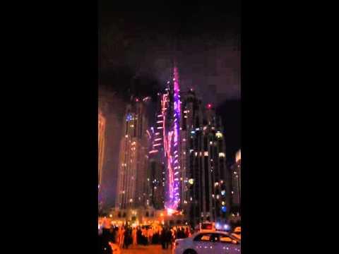 Official Firework Dubai Burj Khalifa Downtown New Year Even Of 2016
