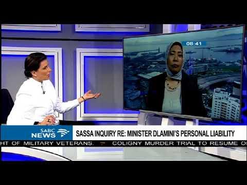 SASSA Inquiry RE: Minister Dlamini's personal lability